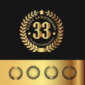 Golden Laurel Wreath 33 Anniversary