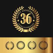 Golden Laurel Wreath 36 Anniversary