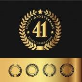 Golden Laurel Wreath 41  Anniversary