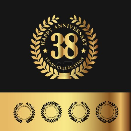 Golden Laurel Wreath 38 Anniversary