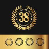 Golden Laurel Wreath 38 Anniversary