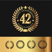 Golden Laurel Wreath 42 Anniversary