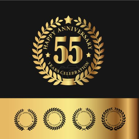 Golden Laurel Wreath 55 Anniversary