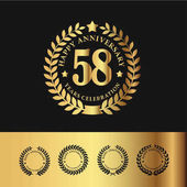 Golden Laurel Wreath 58 Anniversary