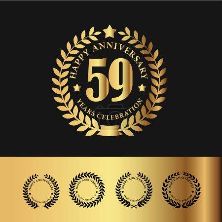Golden Laurel Wreath 59 Anniversary