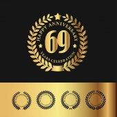 Golden Laurel Wreath 69 Anniversary