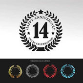 Black Laurel wreath 14 Anniversary