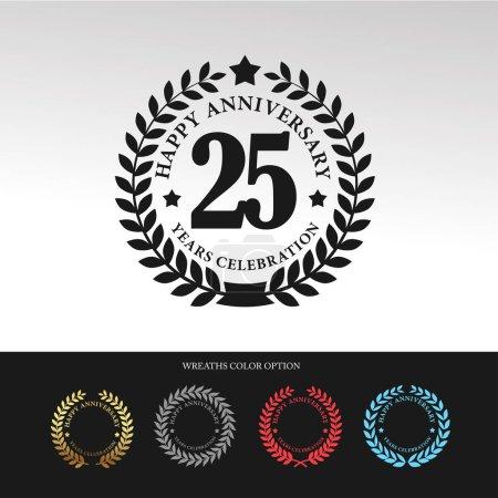 Black Laurel wreath 25 Anniversary