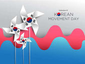 Korean Movement Day Vector illustration