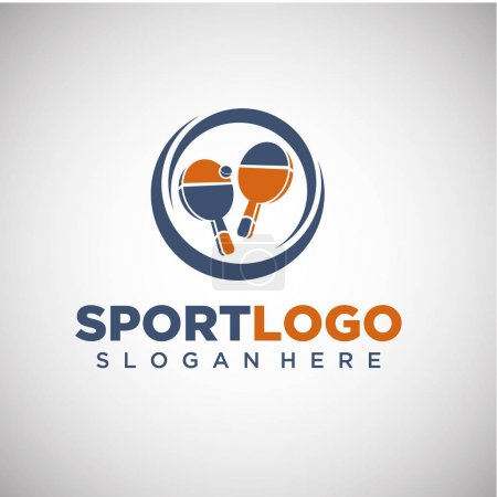 Sport Ping Pong Logo Template.