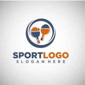 Sport Ping Pong Logo Template