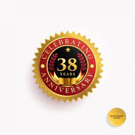 38  Years anniversary logo