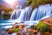 Jiulong waterfall in Luoping, China.