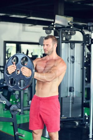 Man working out at gym
