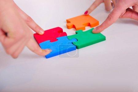 Photo pour Business Connection Équipe corporative Puzzle Concevoir - image libre de droit