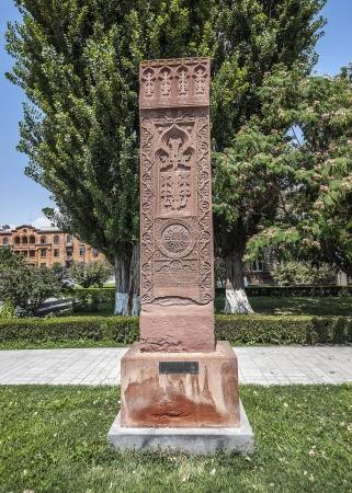 Ancient khachkars of Etchmiadzin.