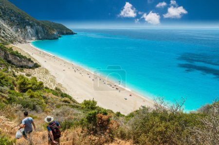 Milos beach on Lefkada island, Greece.