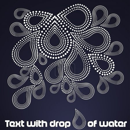 brochure with drops of water