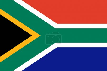 Illustration for Official flag of  Republic of South Africa, vector illustration - Royalty Free Image