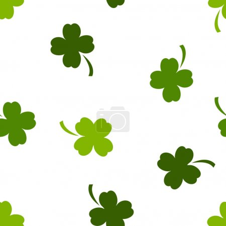 seamless texture with clovers