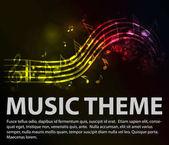 Music theme with lighting tones