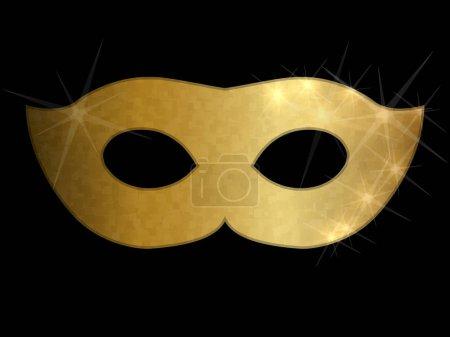Golden mask illustration