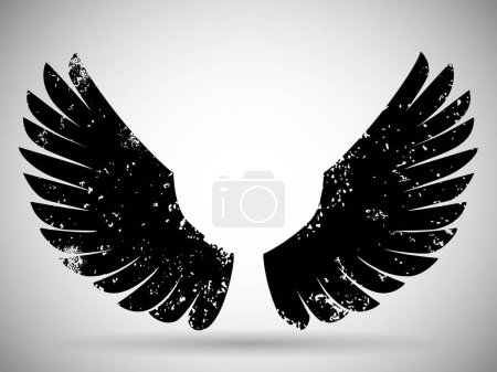Black grunge wings