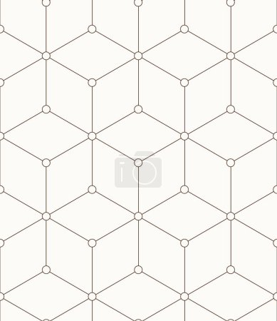 Illustration for Seamless pattern made from squares vector - Royalty Free Image
