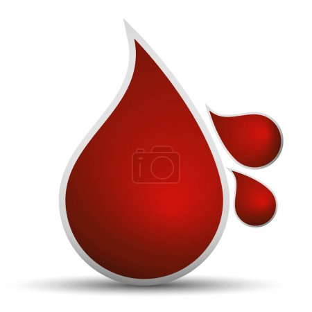 Drops of blood  illustration