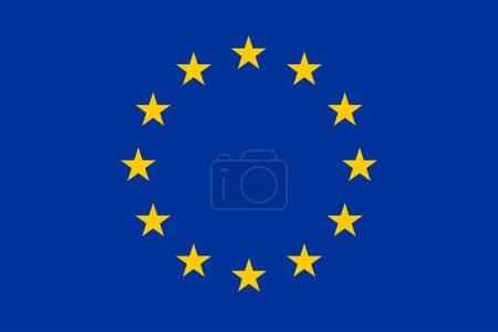 Drapeau de l'union européenne avec les ombres