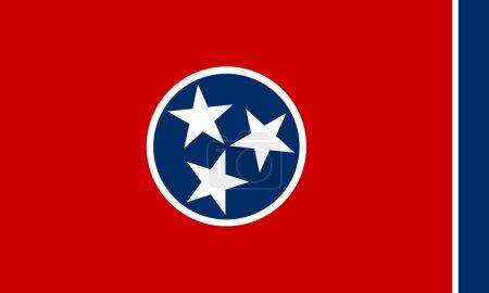 Flag of Tennessee ilustration