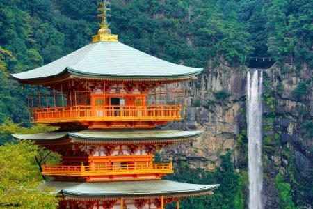 Japan, Nachi Seigantoji and Taki waterfall the best landmark