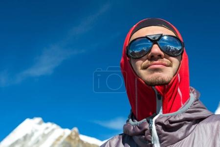 Mountain Climber in Sunglasses