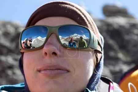 Female Climber in warm Cap