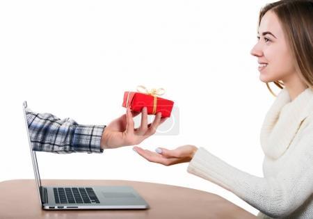 Man greeting Wife throw Internet