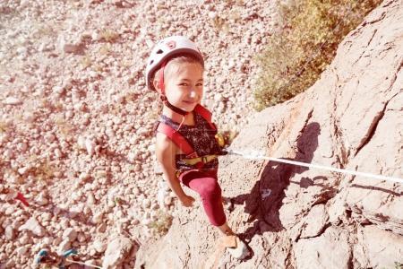 Girl training Rock climbing