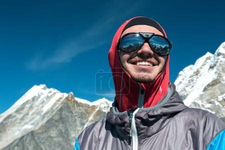 Mountain Climber in Sunglasses