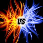 Versus Vector VS Letters Flame Fight Background Design Competition Concept Fight Symbol