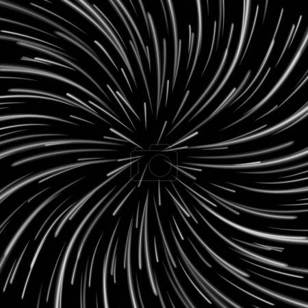 Illustration pour Vortex vecteur spatial. Fond abstrait avec Star Warp ou Hyperspace . - image libre de droit