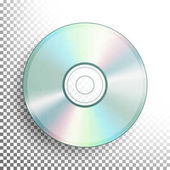 DVD Disc Vector Realistic Compact CD Disc Mock Up Isolated On Transparent Background Music Plastic Sound Data Video Blue-ray Information Medium Illustration