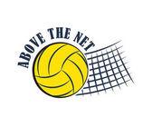 Volleyball badge vector illustration