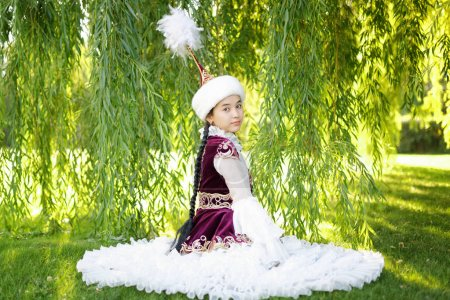 Beautiful kazakh woman in national costume