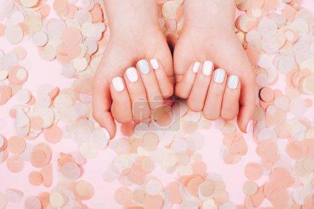 Stylish trendy female manicure