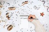 Woman filling 2017 goals