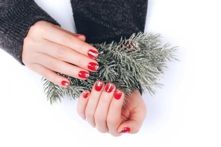 Beatiful Christmas manicure