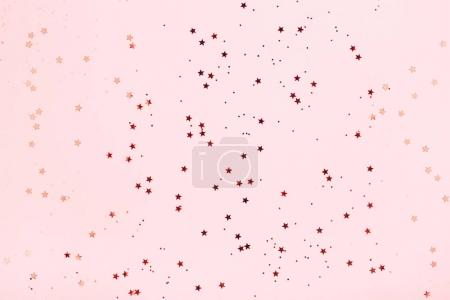 background with delicate red star glitter