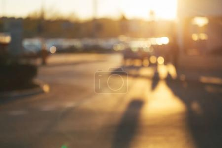 Blurred street background