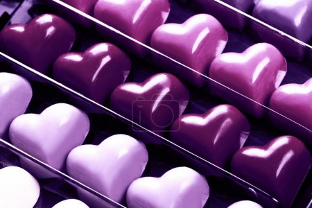 chocolate Ultra Violet hearts