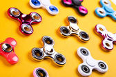 Set of multicolored fidget spinners