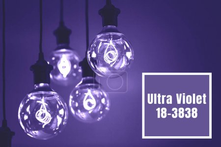 Group of Ultra Volet lamps with interesting shape of tungsten filament.